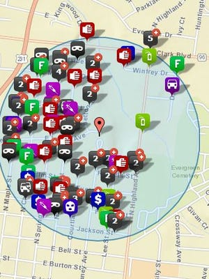 Crime map of Oaklands and surrounding area