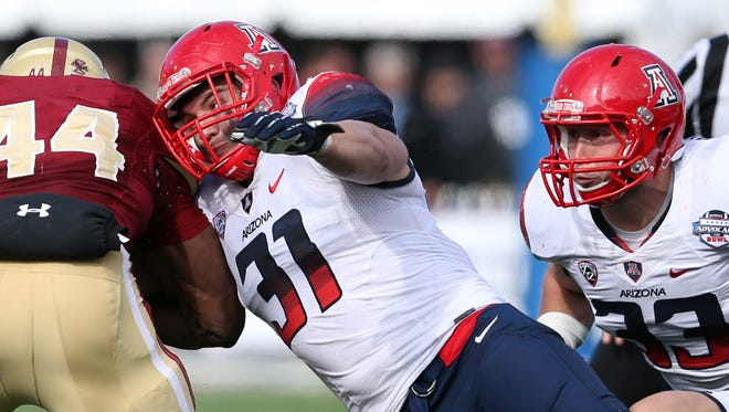 Arizona linebacker Scooby Wright (31) is an all-conference candidate who can play any linebacker spot for the Wildcats.