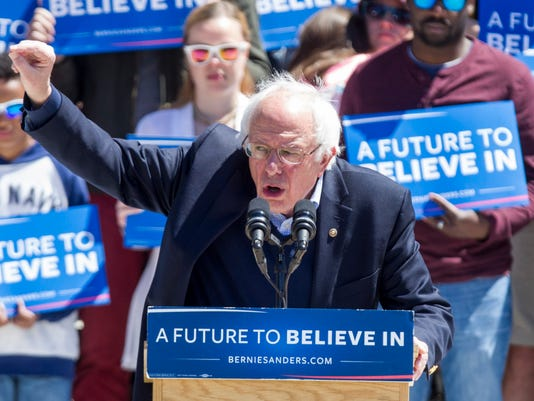 Bernie Sanders Holds Campaign Rally In Providence, Rhode Island