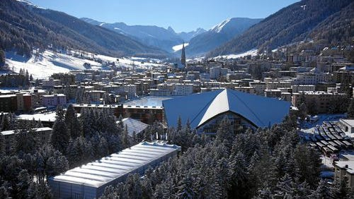 The ski resort of Davos attracts the global political and business elite each year for the annual meeting of the World Economic Forum.