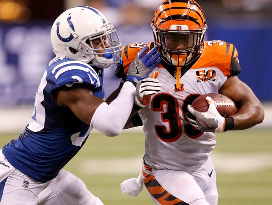 Indianapolis Colts defensive back Corey White (38)