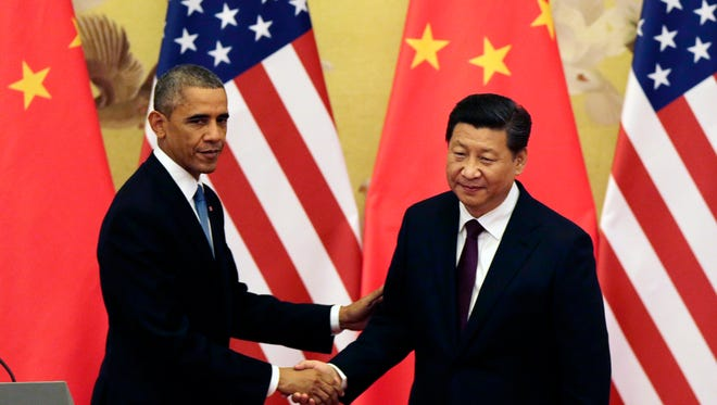 President Obama and Chinese counterpart Xi Jinping in 2014.