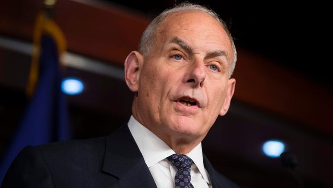 Secretary of Homeland Security John Kelly speaks about immigration enforcement legislation during a press conference on Capitol Hill in Washington, DC, June 29, 2017.