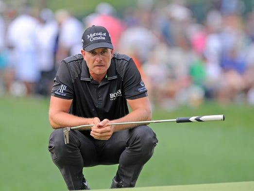 Henrik Stenson during the final round of the 2014 PGA Championship golf tournament at Valhalla Golf Club on Aug. 10.