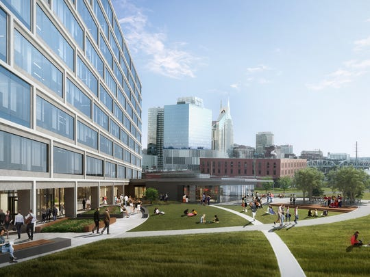 A rendering for Eakin Partners' Peabody Plaza office