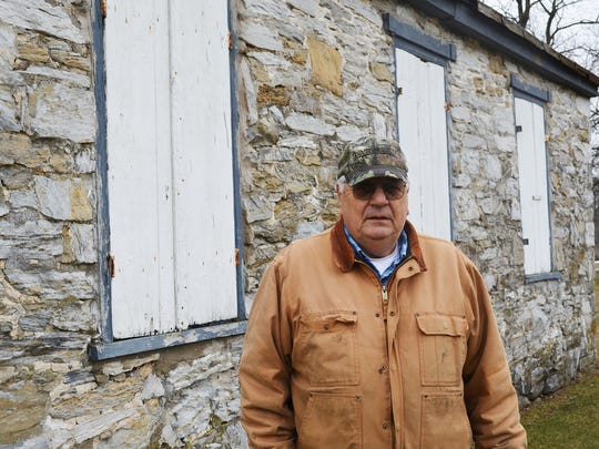 Joseph Hoke, a 12th generation Hoke, cares for Hoke's Meeting House, south of Rocherty Road on state Route 72 in North Cornwall Township.