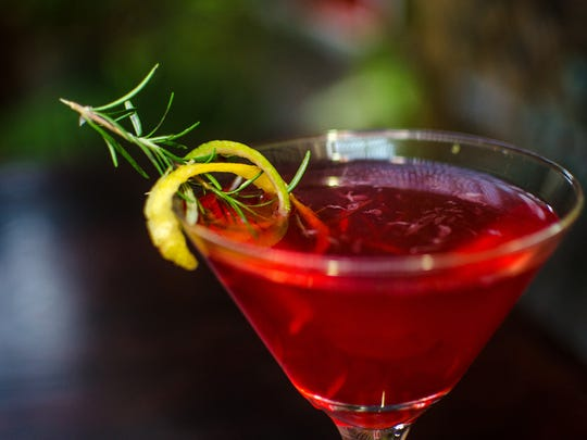 The rosetini is one of many drink specials you'll find at The Sizzling Monkey during Festival International.