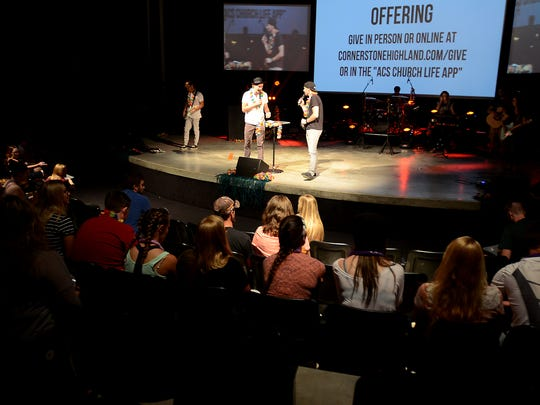 Before the evening got underway outside, the Momentum youth ministry held a service inside Cornerstone Church.