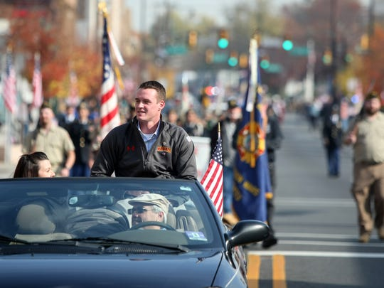 Veterans Day Parade grand marshal William Bonura Jr.,