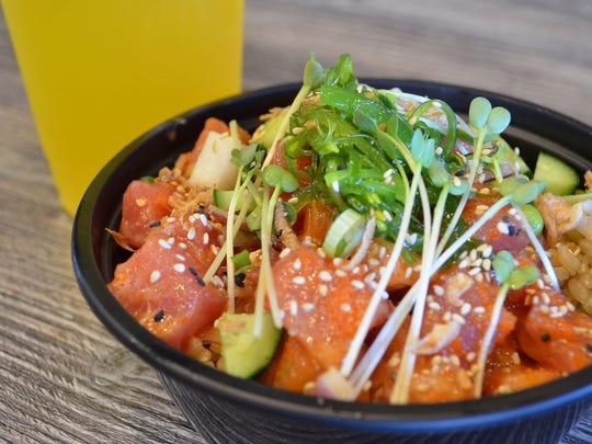Poke is a Hawaiian raw fish salad often served as an