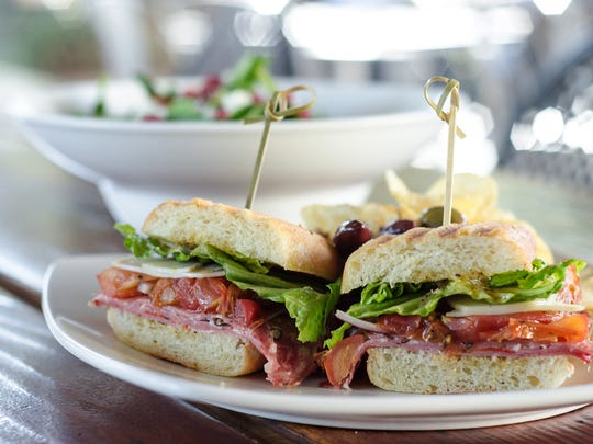 The kalamata sandwich at Queen Creek Olive Mill.