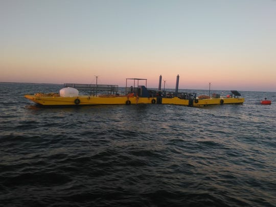 Maryland-based Murtech Inc. is testing out a prototype capable of converting ocean water to fresh drinking water by using power produced by wave energy. It is being tested off Delaware's coast.