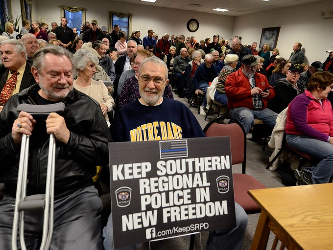 New Freedom Borough residents pack the Borough Council