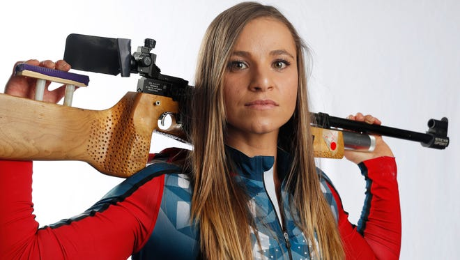 Oksana Masters is a three-time Paralympian who competes in biathlon and cross country skiing during the winter season. She won silver and bronze in Sochi.