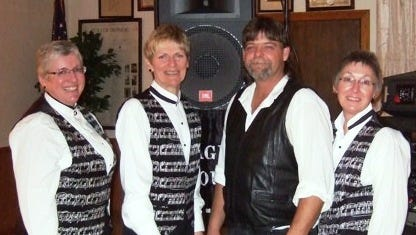 Page Four Band members include, from left: Sharon Vollendorf, Anne Abel, Mark Hintz, and Nancy Johnston.