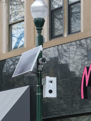 A red light camera is pictured on a pole along Main Street near North Avenue in New Rochelle, April 2, 2016.