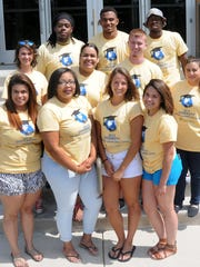 Ten Misericordia University students worked as camp ambassadors at annual Diversity Student Leadership Camp. Participants in the camp, first row from left, are Chabely Espinal, Hazleton, Pennsylvania.; Chiana Fladger, Tobyhanna, Pennyslvania.; Haley Hall, New Tripoli, Pennsylvania., and Ileana Santana, Hazleton, Pennsylvania.; second row, Meghan Digerolamo, Budd Lake, Jayanara Rodriguez-Munoz, Hazleton, Eugene Brady, Hazleton, and Maria Cabrera, multicultural student outreach coordinator, Misericordia University; third row, Kevin Collins, Utica, New York; Isiah Soloman, Bridgewood, and Juwan Petties-Jackson, Somerville.