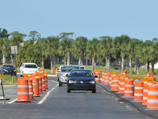 Road work on Stadium Parkway in Viera