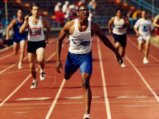 Lake View's Terrence Norris was one of the top Chiefs athletes to come through the San Angelo Relays. He was part of Lake View's 1992 state championship team.