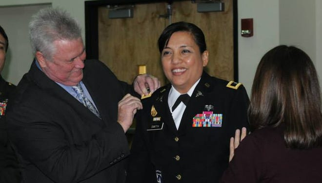 Brig. Gen. Tracy Smith is the newest medical service corps (MSC) Brigadier General and the first Guamanian female general officer in the Armed Forces.