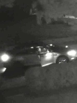 Akron police released this photo of what they believe to be a suspect's vehicle in a homicide on July 3, 2020.