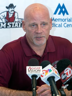 NMSU head football coach Doug Martin