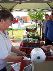 Terri Wilfert enjoys selling produce from the family farm at the Manitowoc Farmers Market.