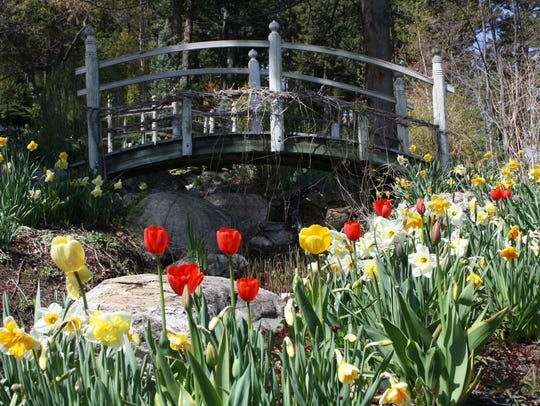 Visitors are invited to stroll through the gardens