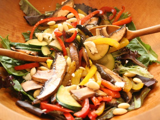 Easily toss together a Sauteed Vegetable Saladon warm