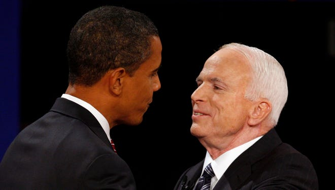 President Obama and John McCain during the 2008 campaign.
