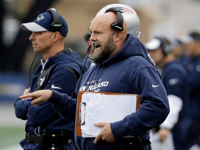 New England Patriots tight ends coach Brian Daboll,