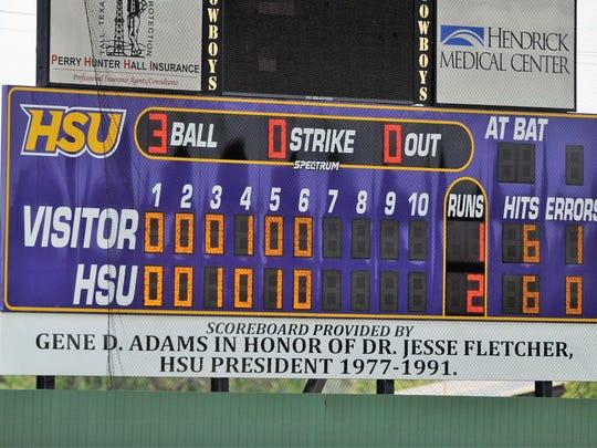 The Hardin-Simmons baseball team got a new scoreboard at Hunter Field this offseason.