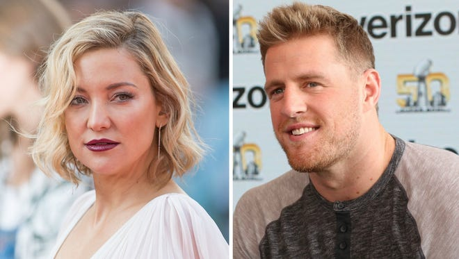 Kate Hudson and J.J. Watt.