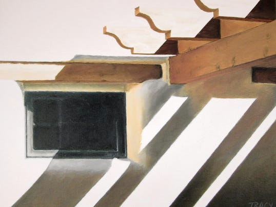 Courtesy photo   Features of old adobes are among works featured in an exhibit of new works by Tracy Jamison continuing throug May 16 at The Cutter Gallery, 2649 El Paseo Road.
