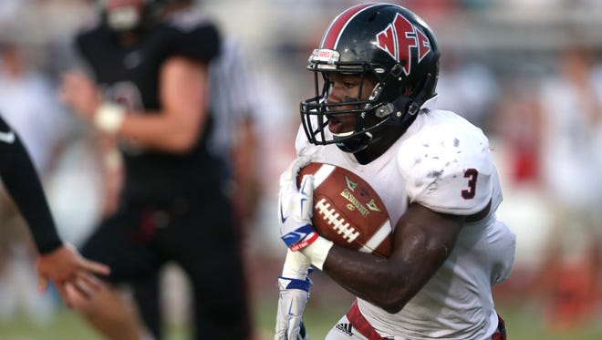 NFC senior Terrell Powell rushed for 75 yards in a 7-3 win over Chiles last Friday, jumping the Eagles up to No. 7 in the area's power rankings and sending the Timberwolves tumbling out of the top 10.