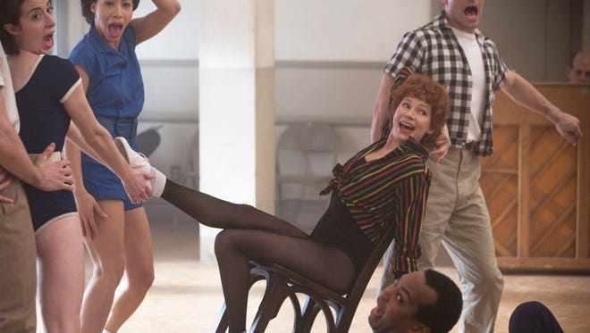"Michelle Williams as Gwen Verdon in a scene from the series ""Fosse/Verdon."""