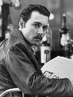 """In """"Donnie Brasco"""" (1997), an FBI agent (Johnny Depp) infiltrates the mob."""