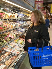 Karen Chodzko, Ocean Township, shops at the Foodtown there for Thanksgiving.