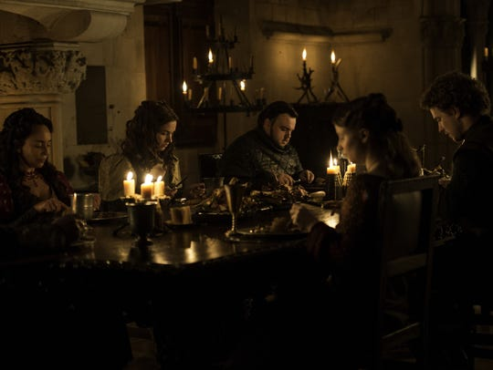 The Tarly family dinner.