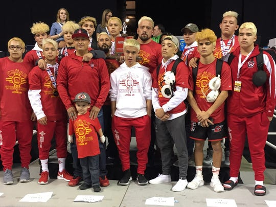 The Cobre High wrestling team took second in the Class
