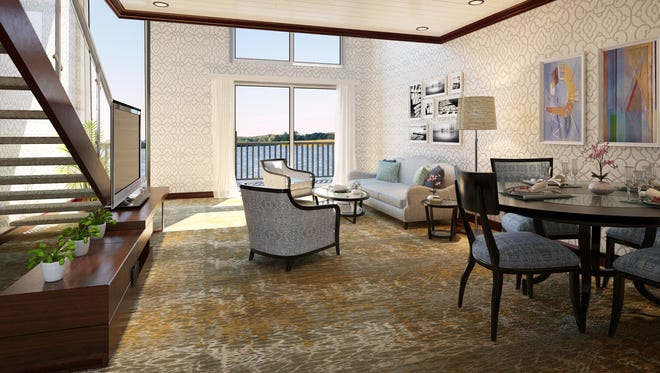 The Loft Suites on the soon-to-debut American Duchess will spread across two decks.