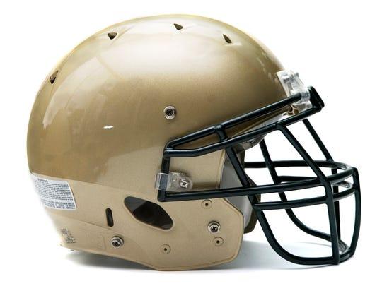 York Catholic football helmet.