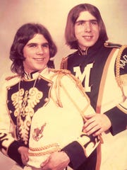 Don Cook, left, and his brother Brad played in the band at Madison Comprehensive High School.
