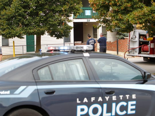 Lafayette police were called to the 300 block of South