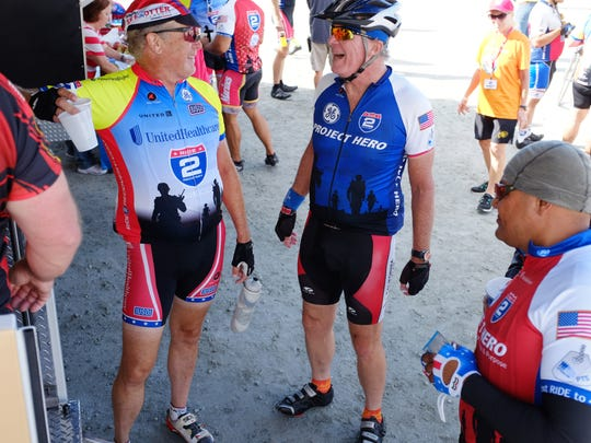 Some of the 200 riders participating in Day 2 of the week-long Ride 2 Recovery 2015 California Challenge.