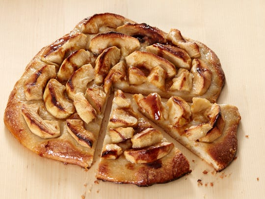 Make this apple galette with frozen pizza dough.