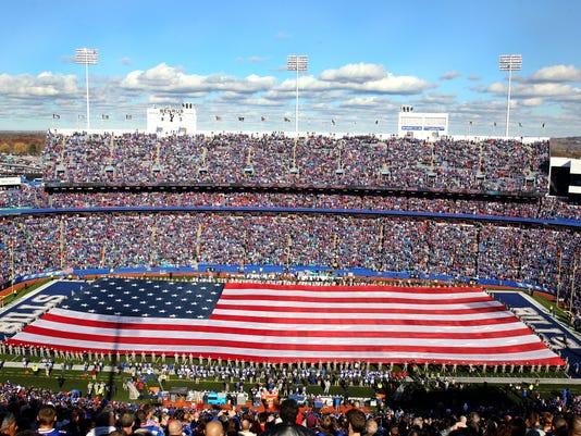 Patriotism on display before Bills game
