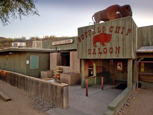 The Buffalo Chip Saloon in Cave Creek, Arizona