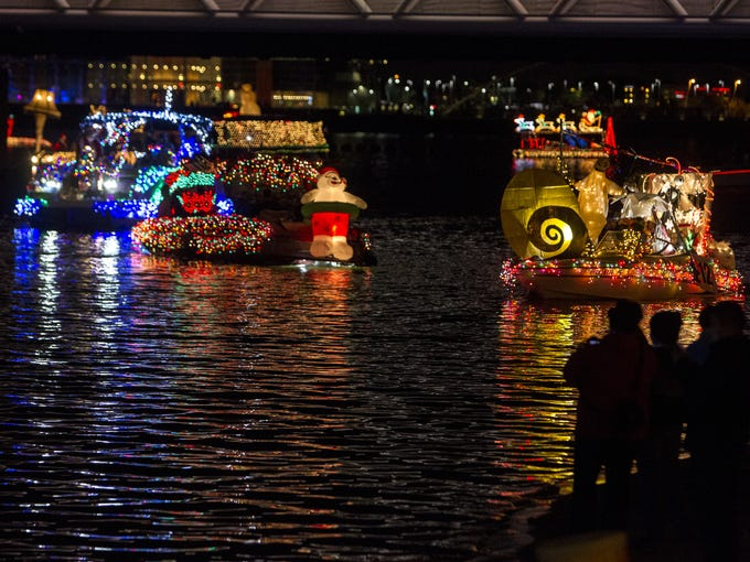 Boats are pictured on Saturday, Dec. 12, 2015 during