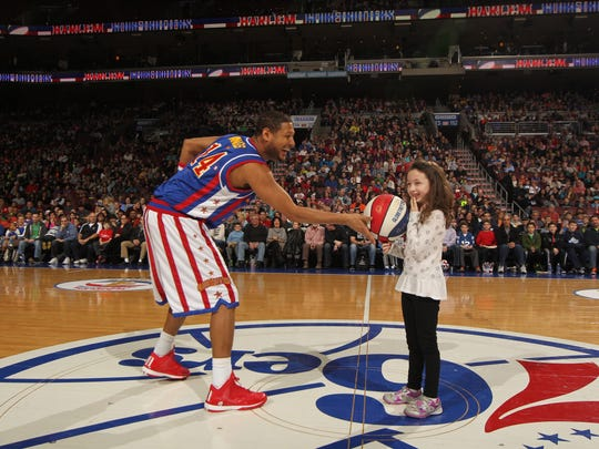 Harlem Globetrotters, shown here at Wells Fargo Center in Philadelphia, will come to Boardwalk Hall on March 7.